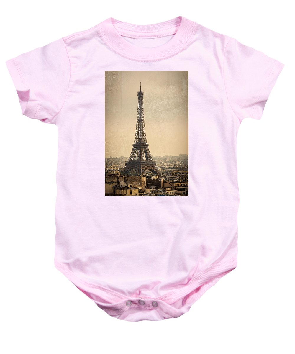 Paris Baby Onesie featuring the photograph The Eiffel Tower In Paris France by Dutourdumonde Photography
