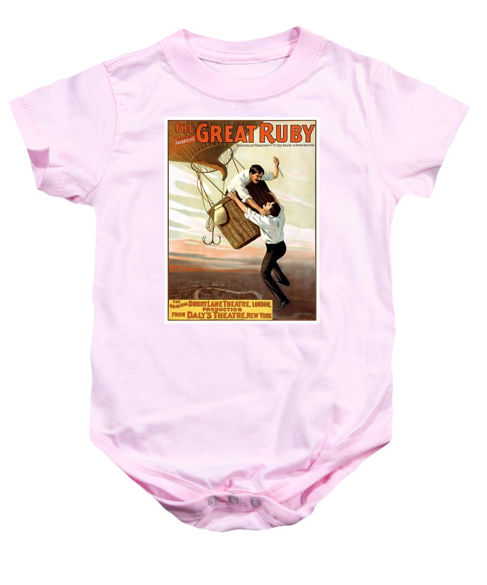 Vintage Poster Baby Onesie featuring the painting The Great Ruby by Terry Reynoldson