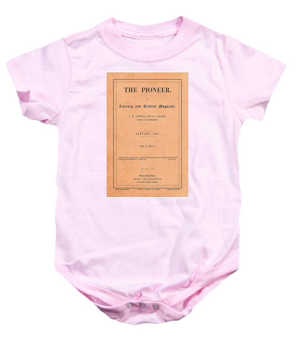 Book Baby Onesie featuring the digital art The Pioneer Literary Magazine by Philip Ralley