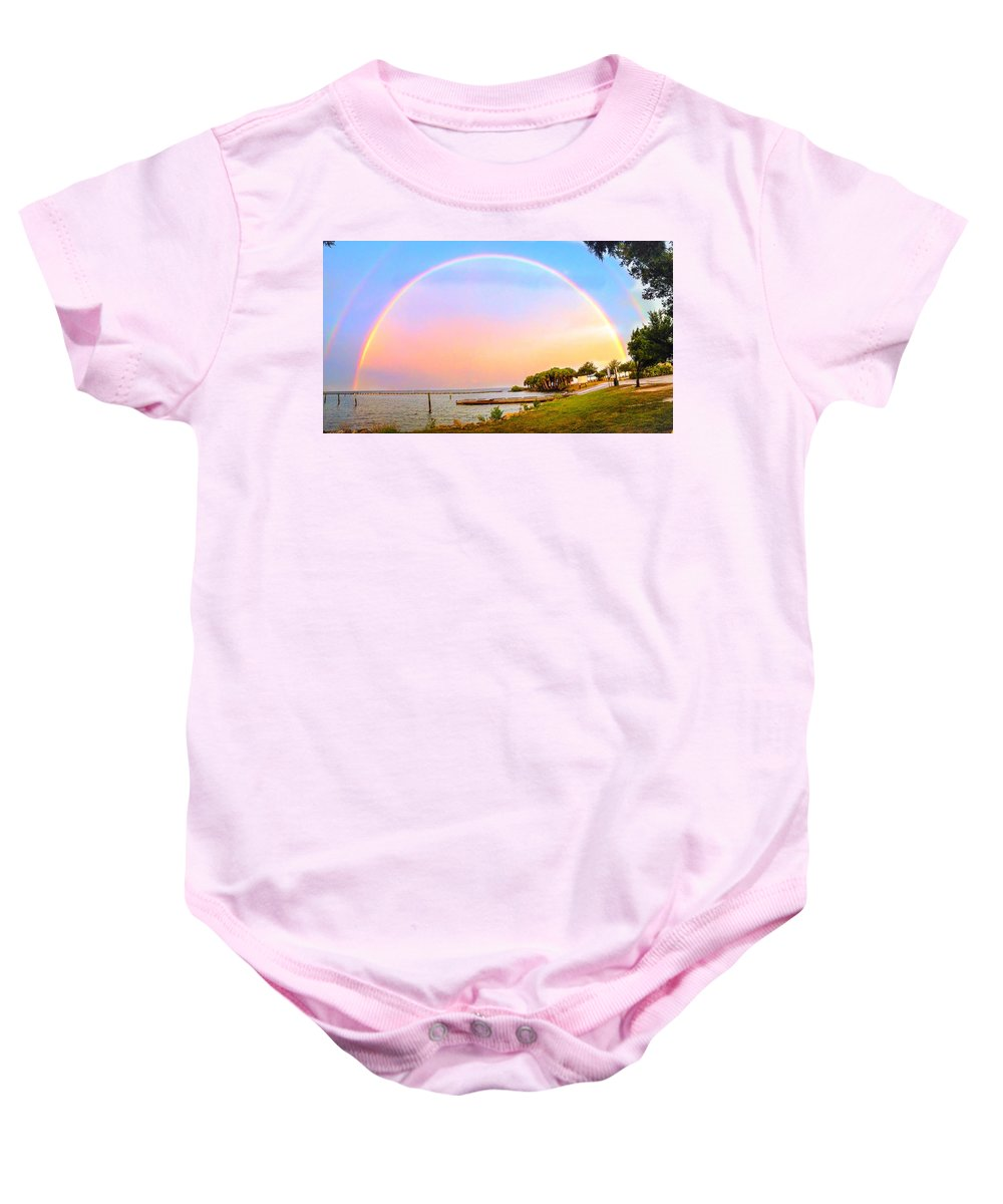 Rainbow Baby Onesie featuring the photograph The Rainbow by Carlos Avila