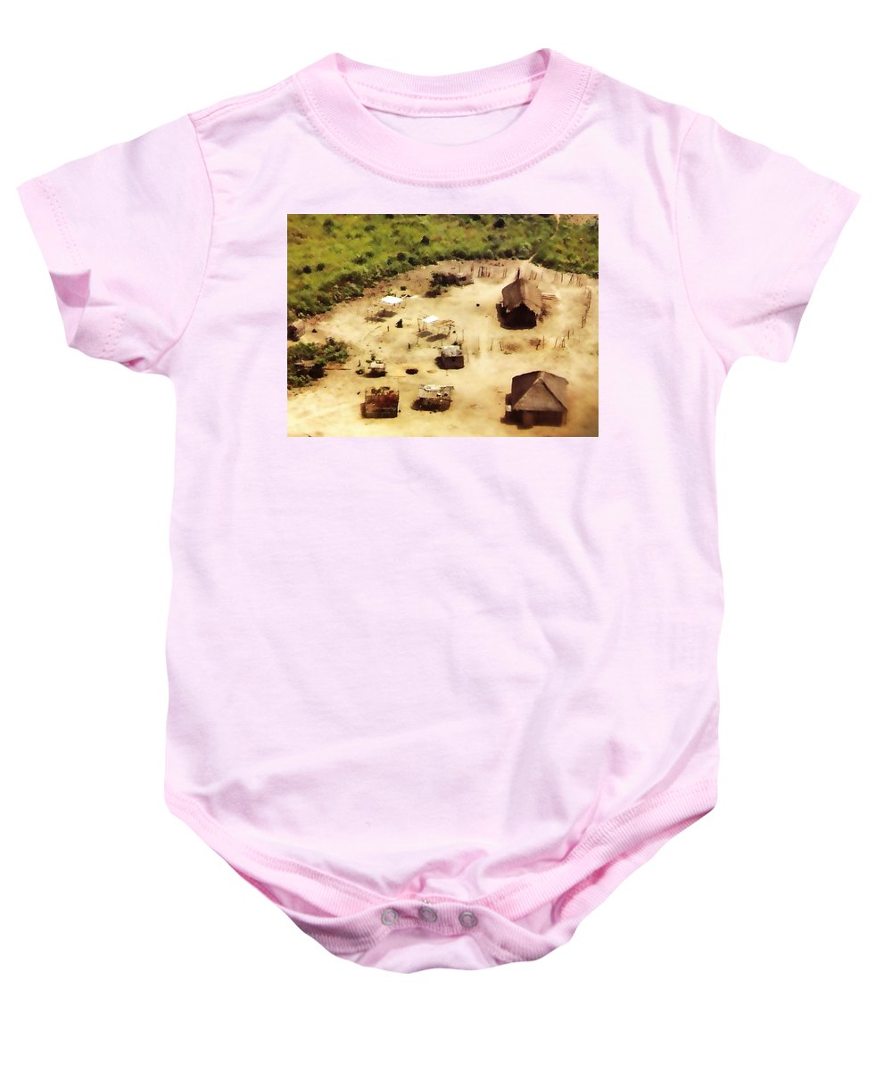 Africa Baby Onesie featuring the photograph The Village In Africa by Image Takers Photography LLC