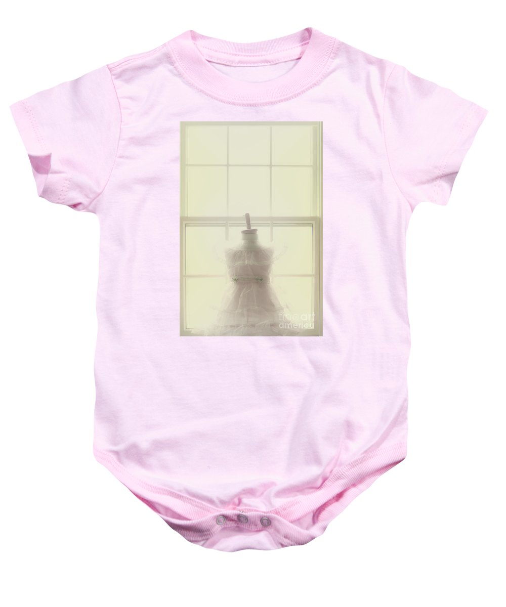 Pink Baby Onesie featuring the photograph The Wait by Margie Hurwich