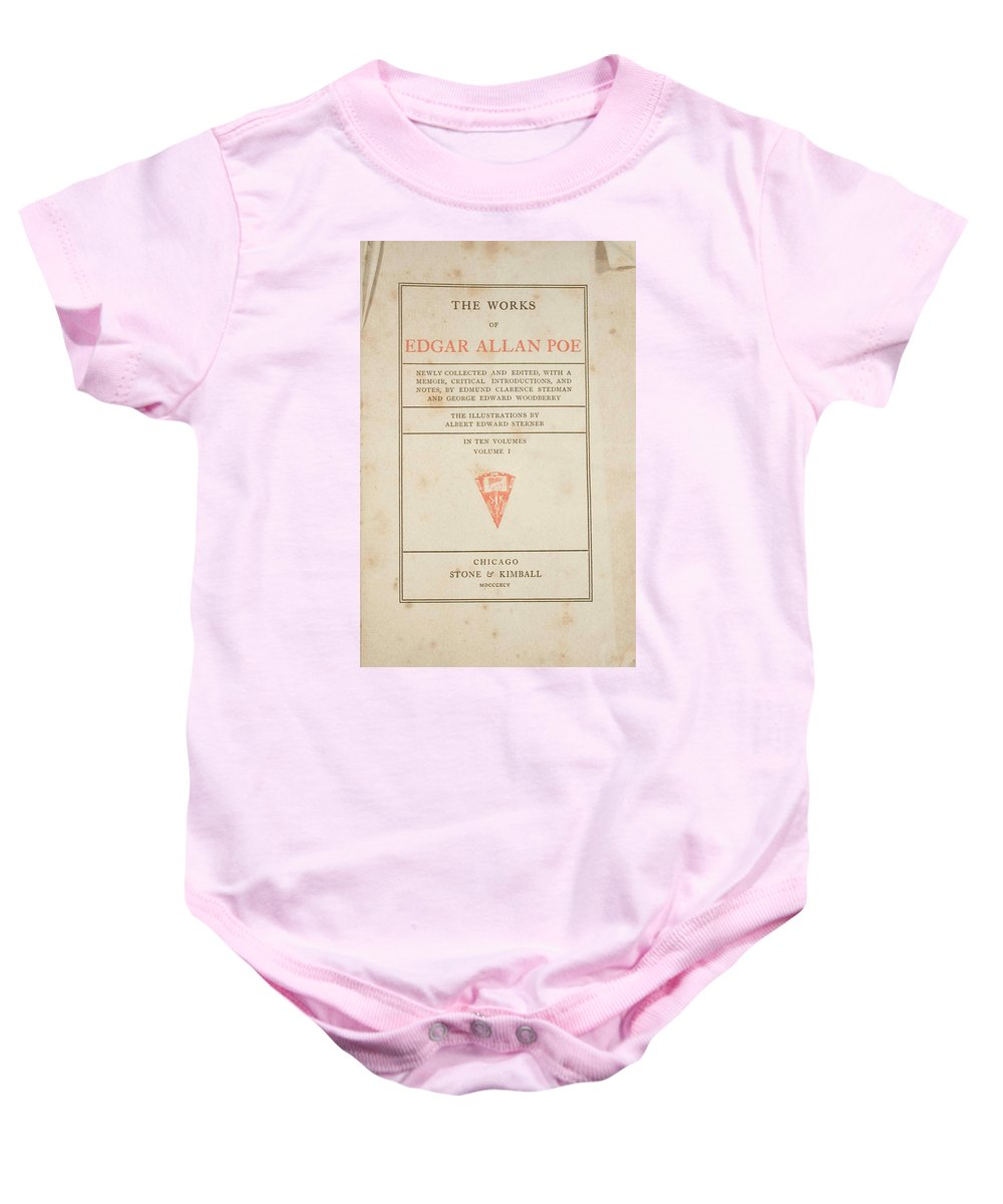 Book Baby Onesie featuring the digital art The Works Of Edgar Allan Poe by Philip Ralley