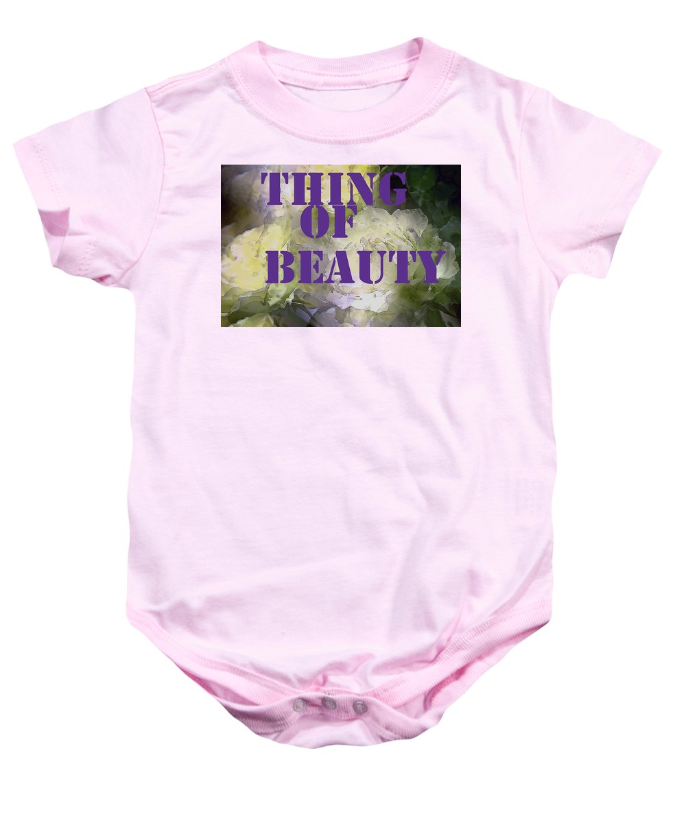 Thing Of Beauty Baby Onesie featuring the photograph Thing Of Beauty by Pamela Cooper