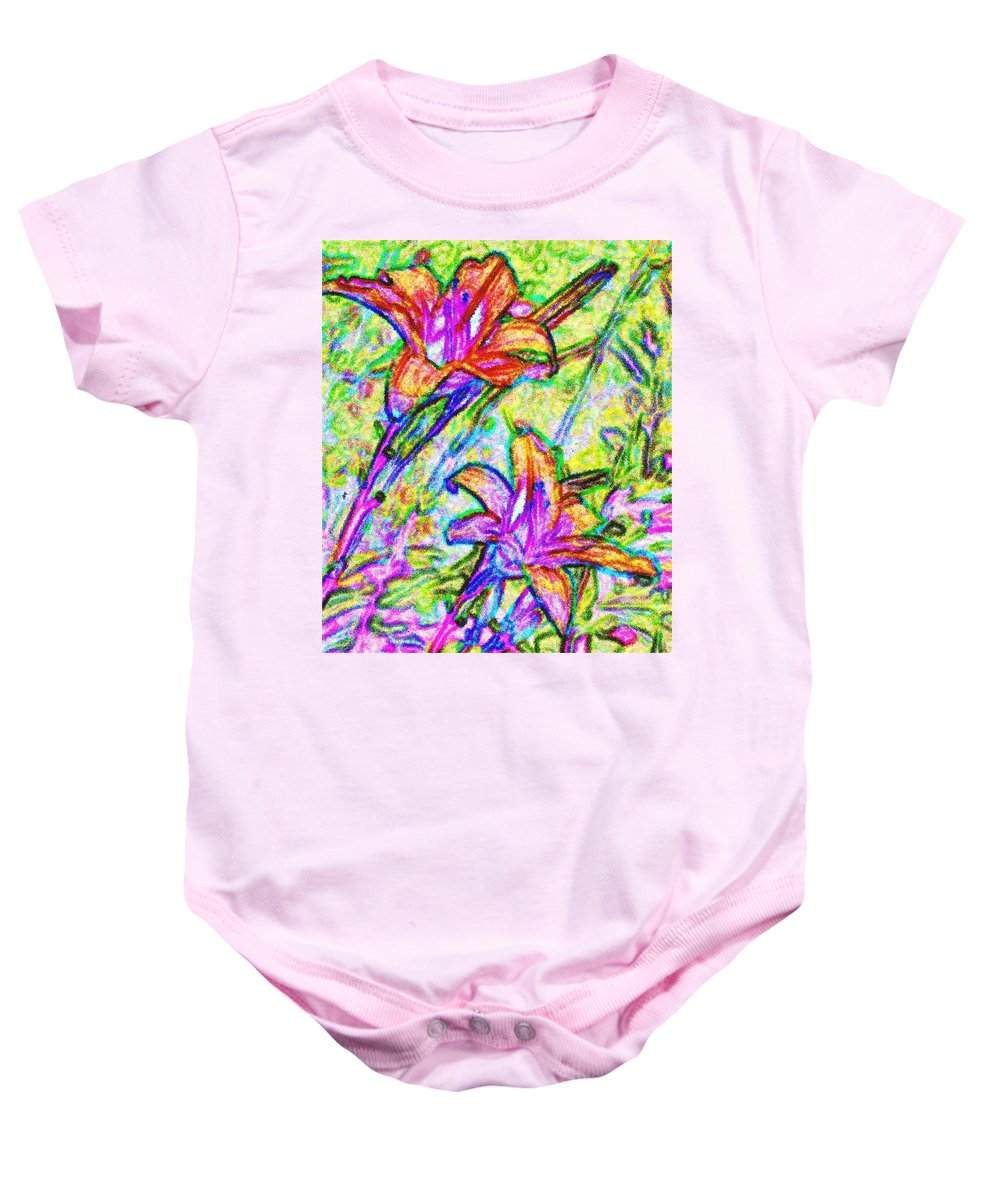 Tiger Baby Onesie featuring the photograph Tiger Lillies by Ian MacDonald