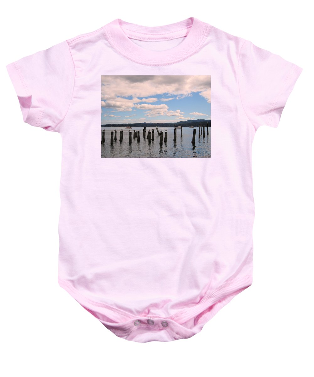 Landscape Baby Onesie featuring the photograph To Each His Own by Kym Backland