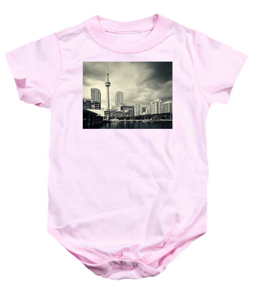 Toronto Baby Onesie featuring the photograph Toronto Harbourfront by Alexander Voss