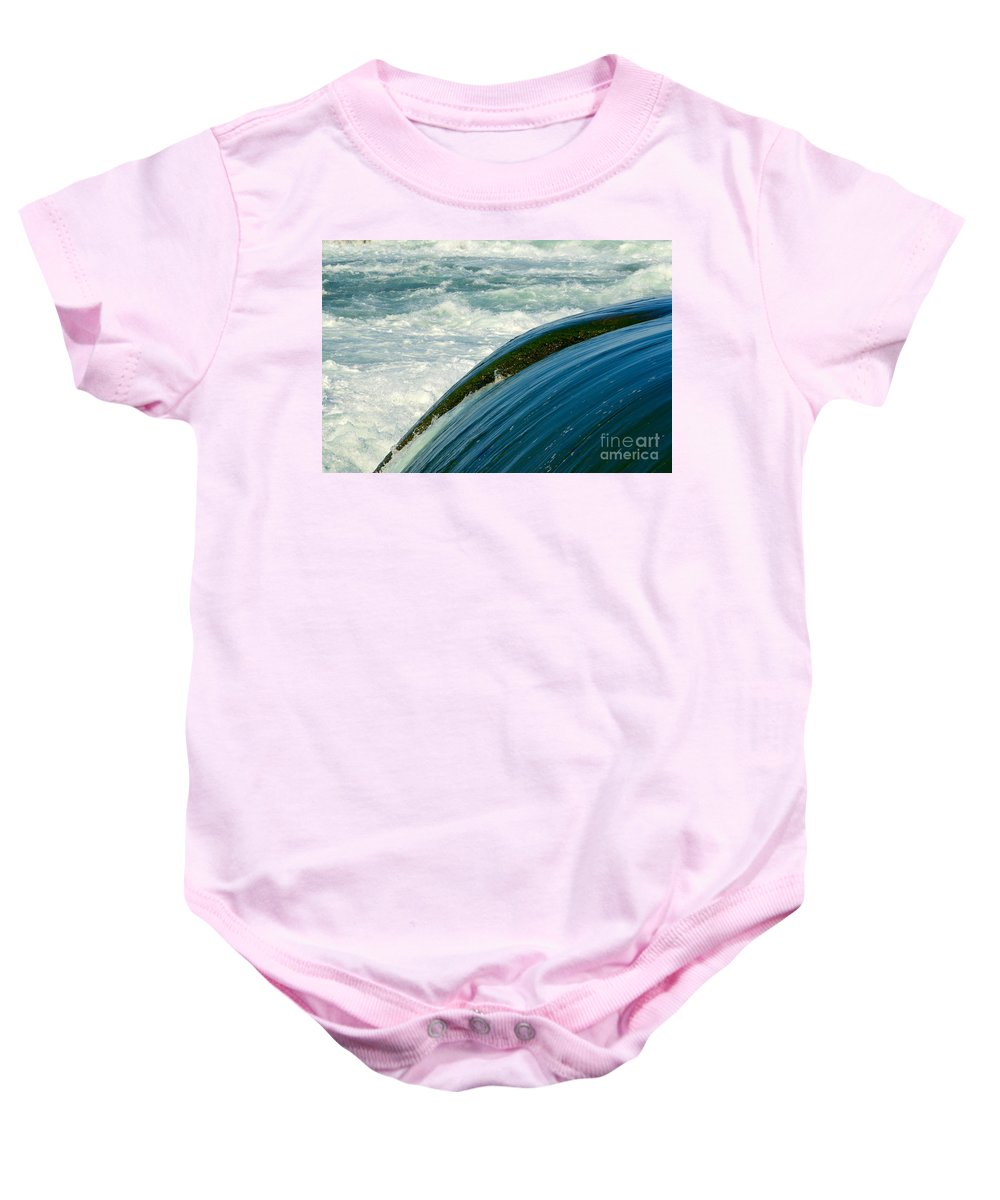 Fast Baby Onesie featuring the photograph Upper Niagara River by Les Palenik