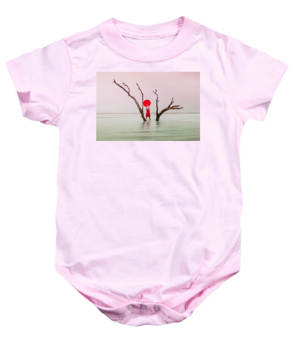 Woman Baby Onesie featuring the photograph Uncertain Victory by Carol VanDyke