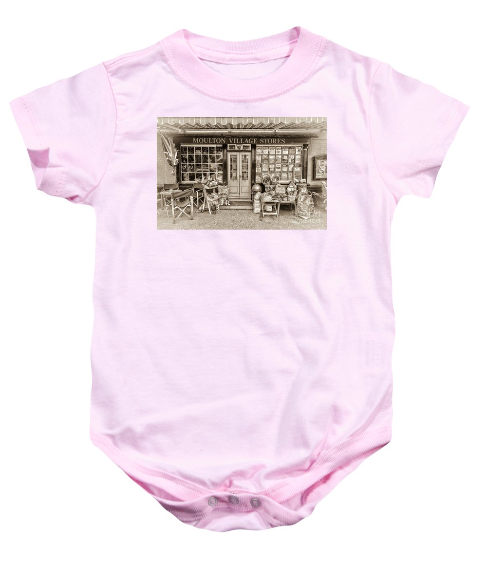 Moulton Baby Onesie featuring the photograph Village Stores 3 by Julian Eales