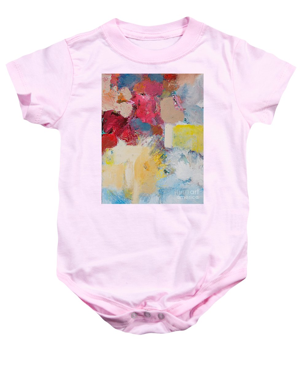 Color Baby Onesie featuring the painting When The Angels Sing by Allan P Friedlander