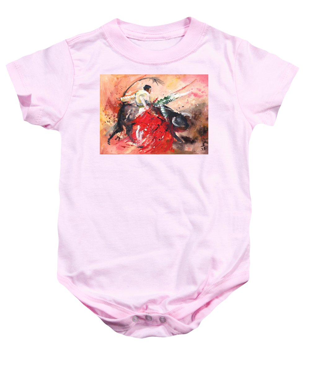 Watercolour Baby Onesie featuring the painting Wild Pass 2010 by Miki De Goodaboom