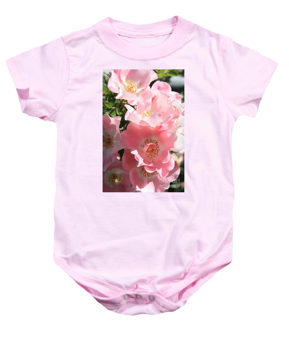 Wild Roses Baby Onesie featuring the photograph Wild Roses by Carol Groenen