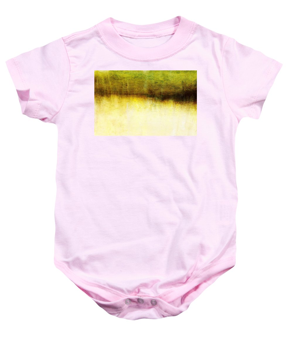 Brett Baby Onesie featuring the digital art Wither Whispers IIi by Brett Pfister