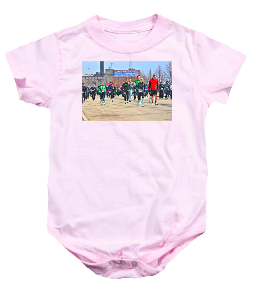 Baby Onesie featuring the photograph 039 Shamrock Run Series by Michael Frank Jr