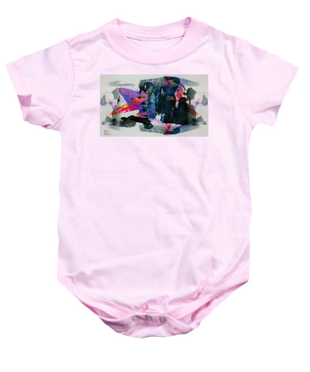 Abstract Baby Onesie featuring the painting Abstract 4 by Natalie Holland