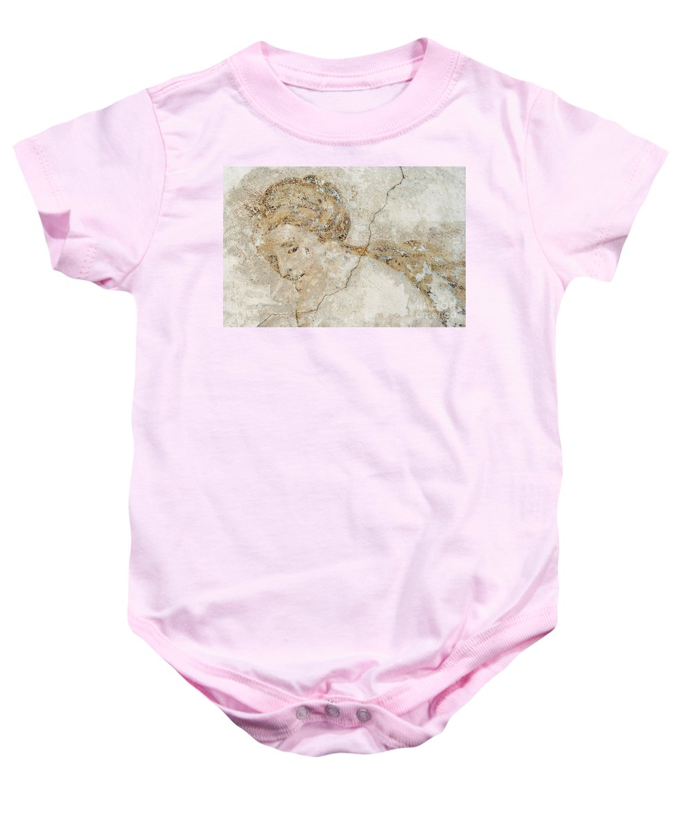 Mural Baby Onesie featuring the photograph Baroque Mural Painting by Michal Boubin