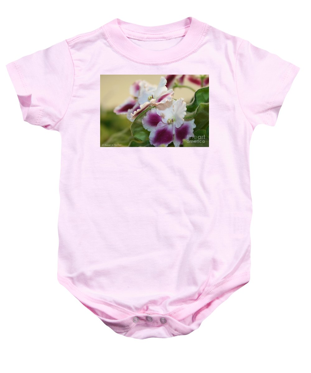 Outdoors Baby Onesie featuring the photograph Blush by Susan Herber
