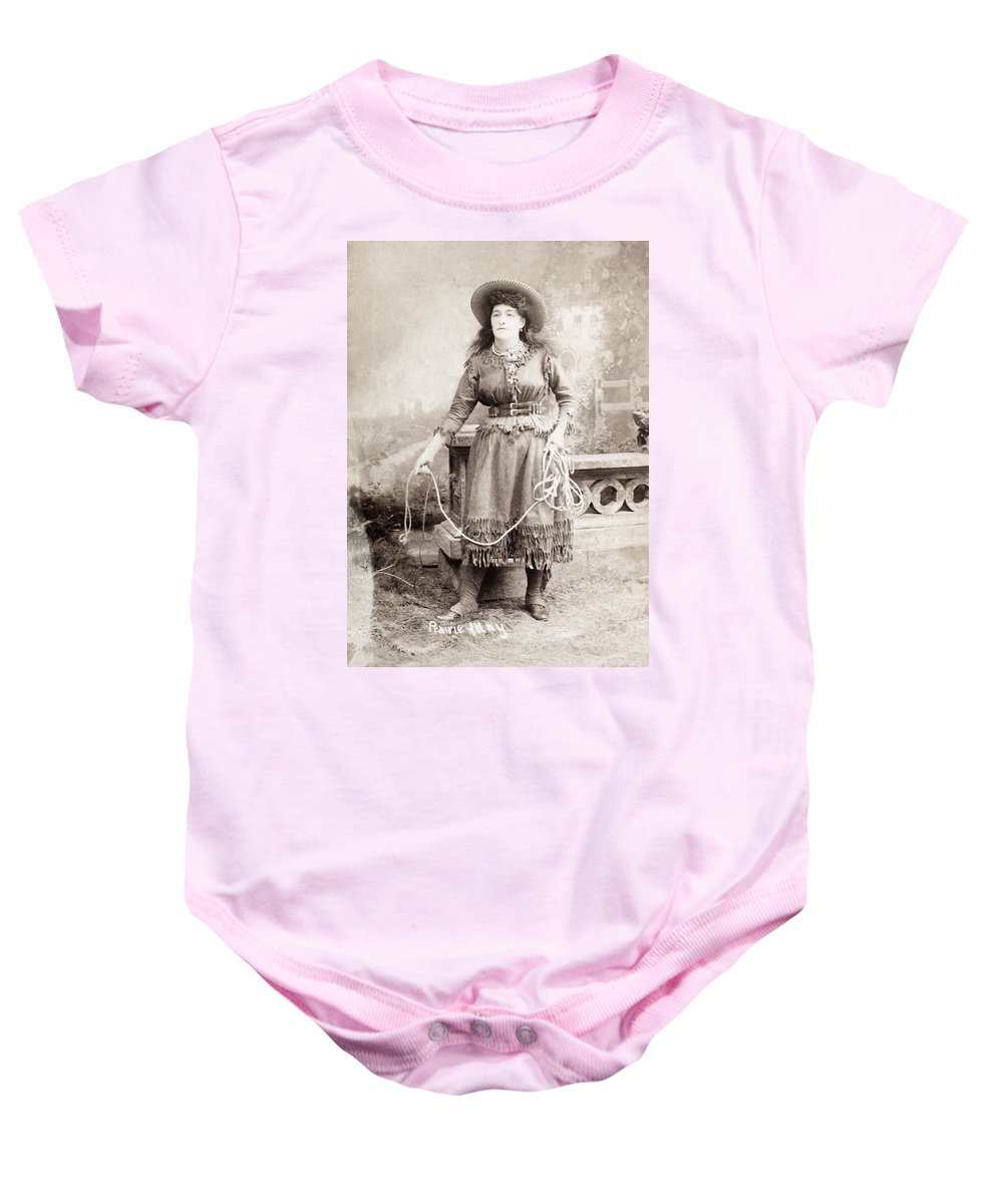 19th Century Baby Onesie featuring the photograph Cowgirl by Granger