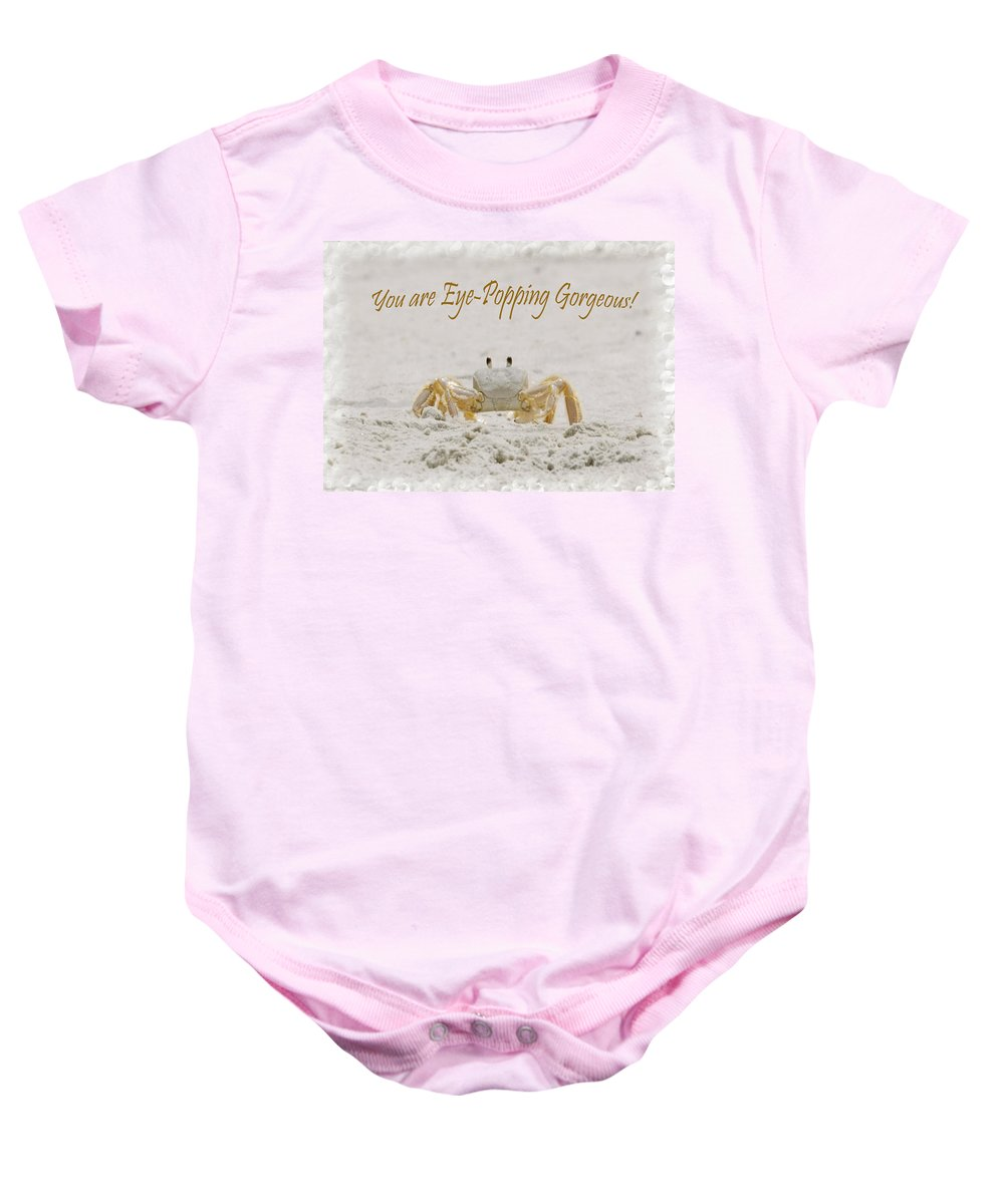 Card Baby Onesie featuring the photograph Eye Popping Gorgeous by Judy Hall-Folde