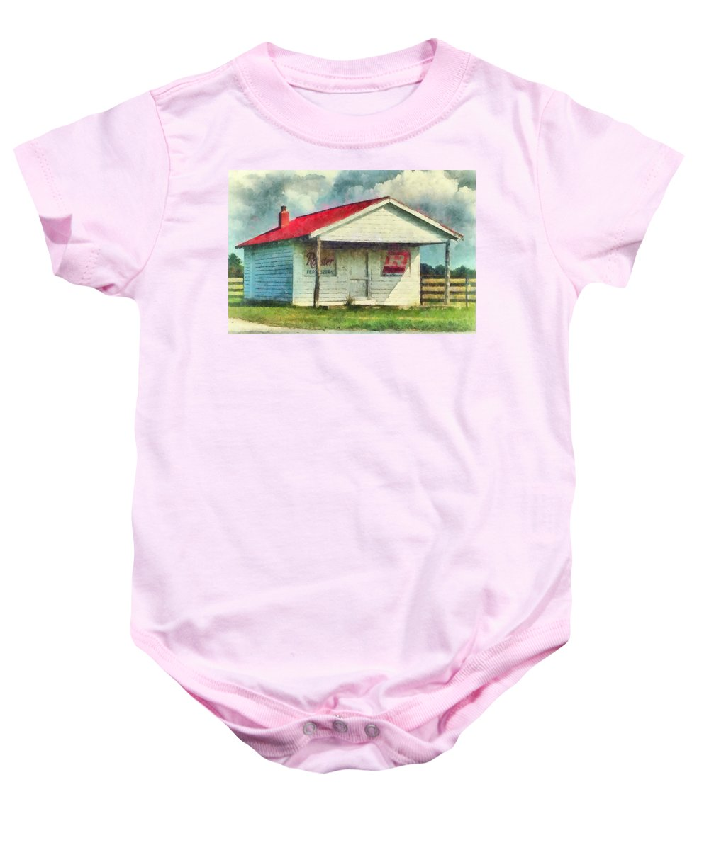 Watercolor Baby Onesie featuring the painting Royster Fertilizers by Lynne Jenkins