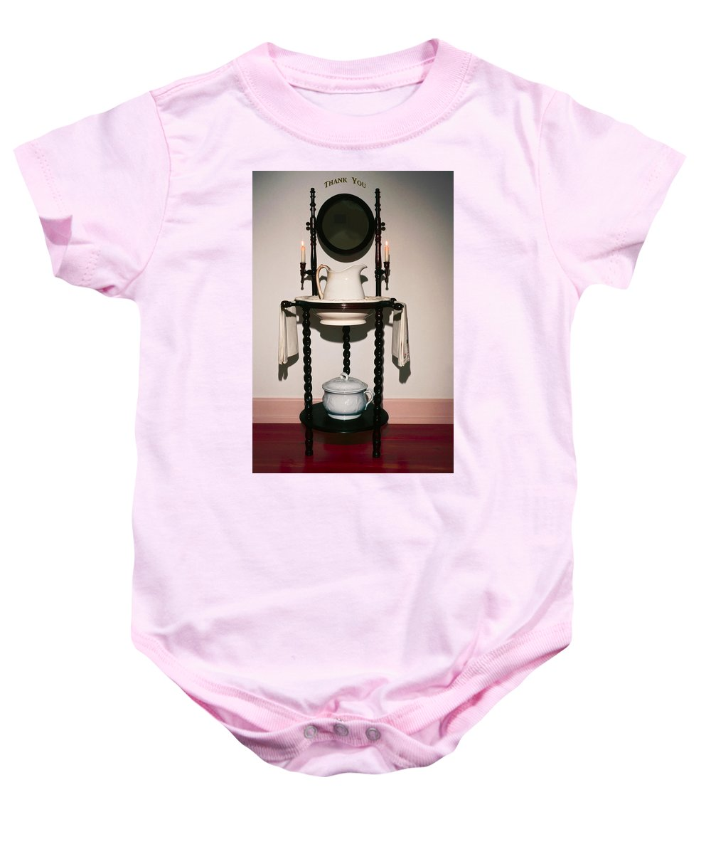Lavabo Baby Onesie featuring the photograph Thank You by Sally Weigand
