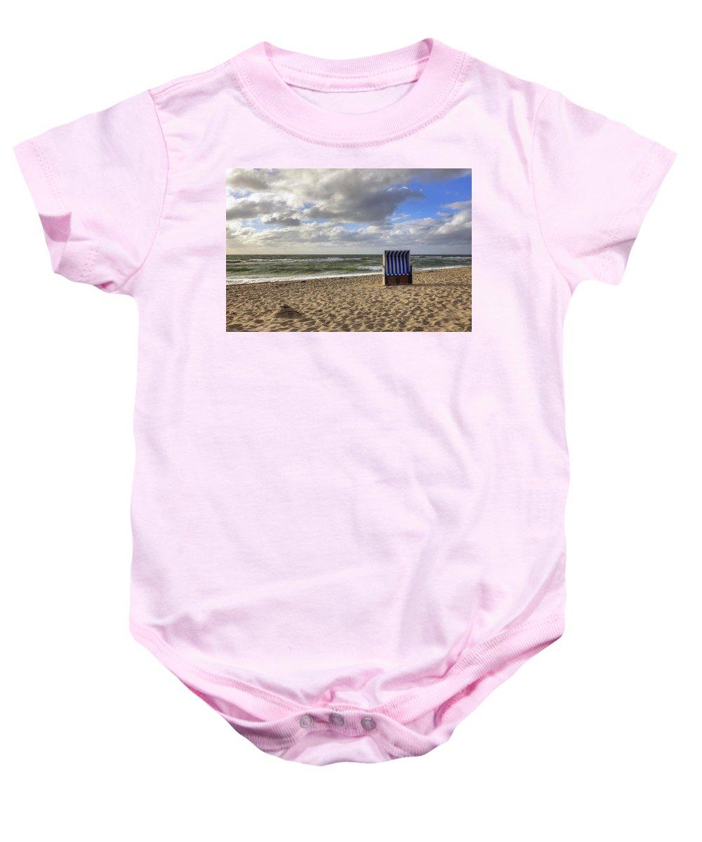 Beach Baby Onesie featuring the photograph Sylt by Joana Kruse