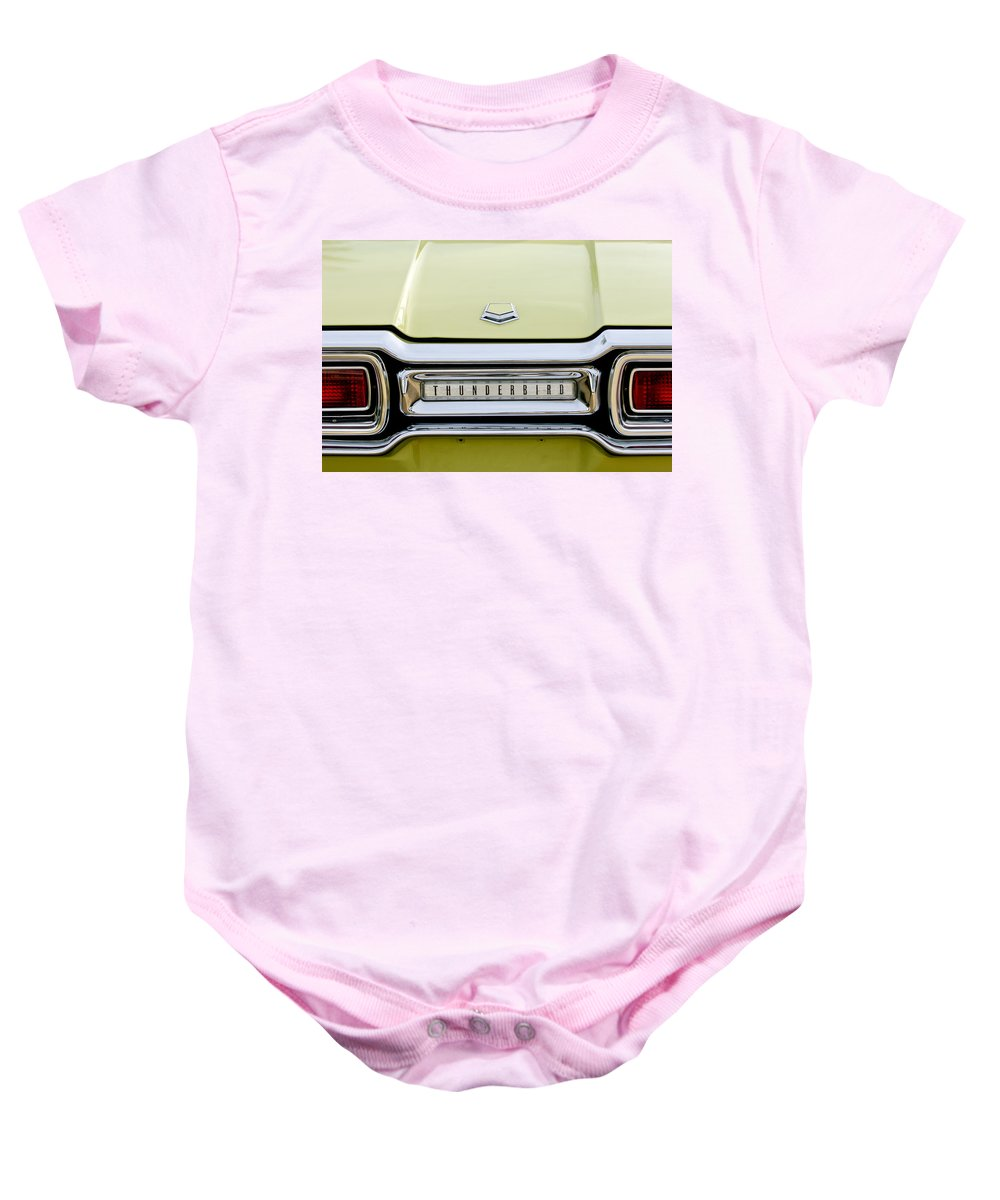 1954 Ford Thunderbird Baby Onesie featuring the photograph 1954 Ford Thunderbird Taillight Emblem by Jill Reger