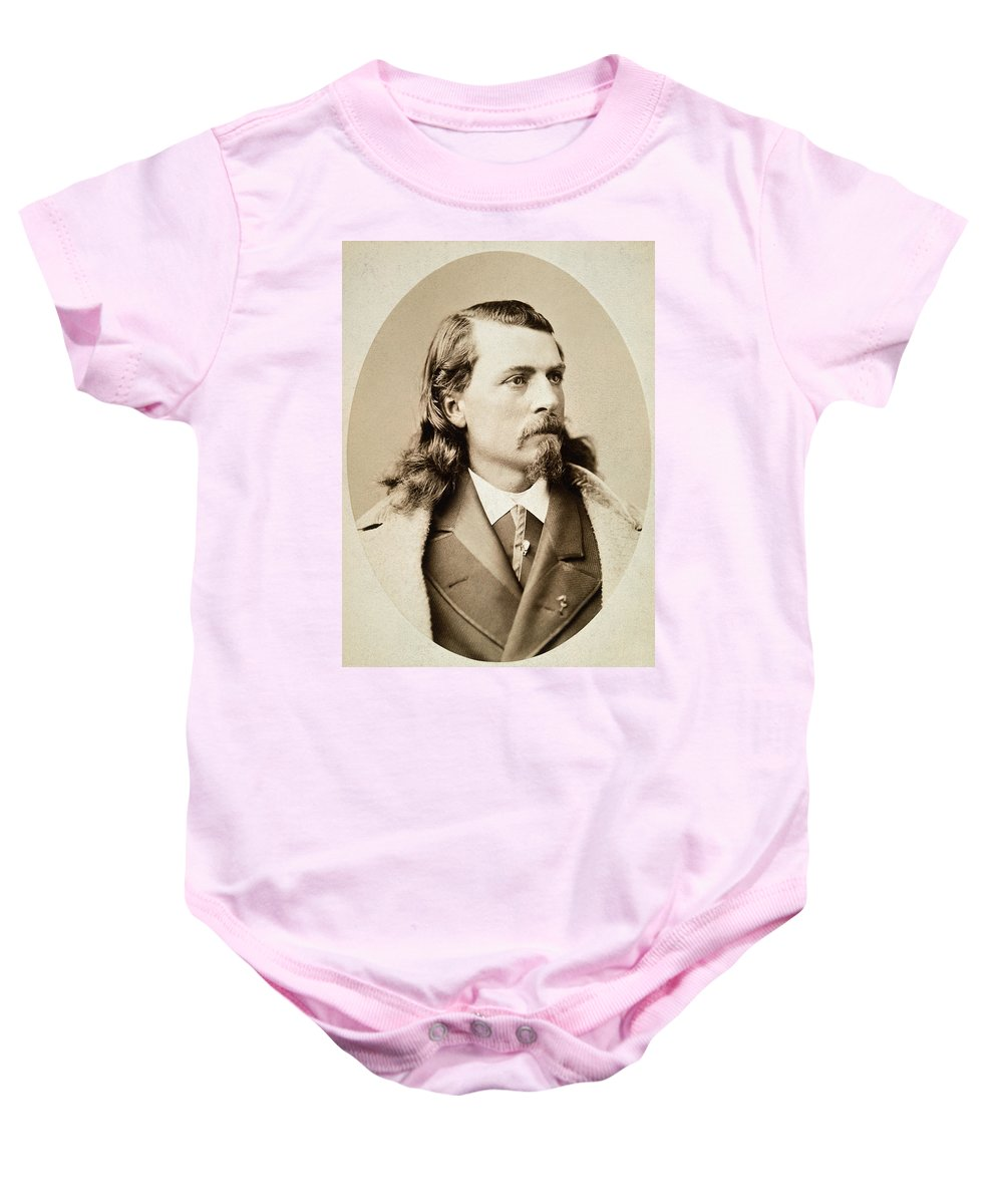 1880 Baby Onesie featuring the photograph William F. Cody (1846-1917) by Granger
