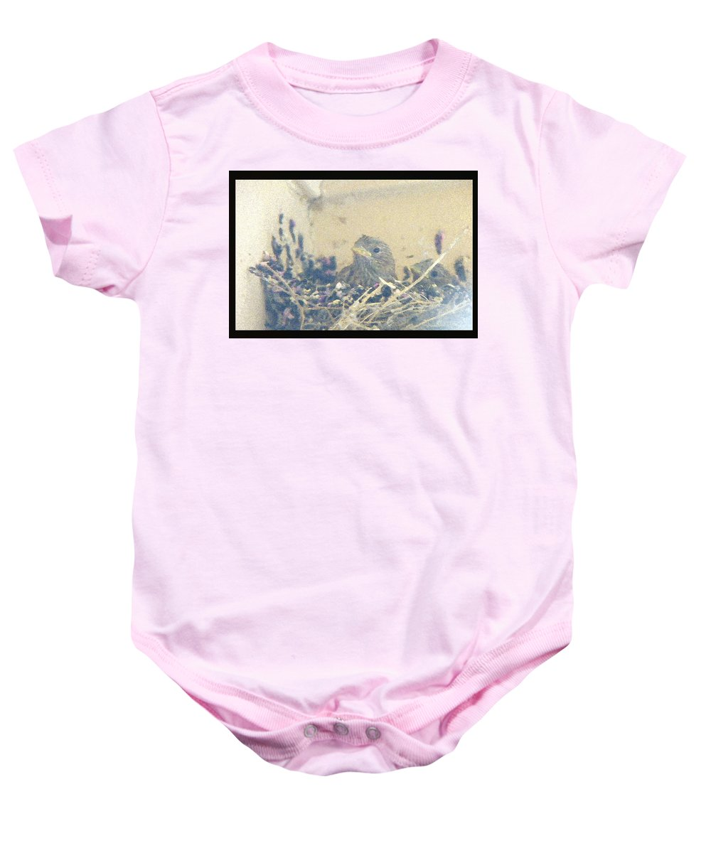 Abstract Baby Onesie featuring the photograph Anticipation Of Flight by Lenore Senior