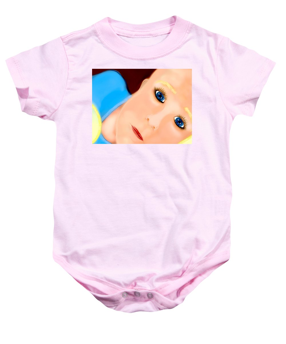 Son Baby Onesie featuring the digital art Boy by Mathieu Lalonde