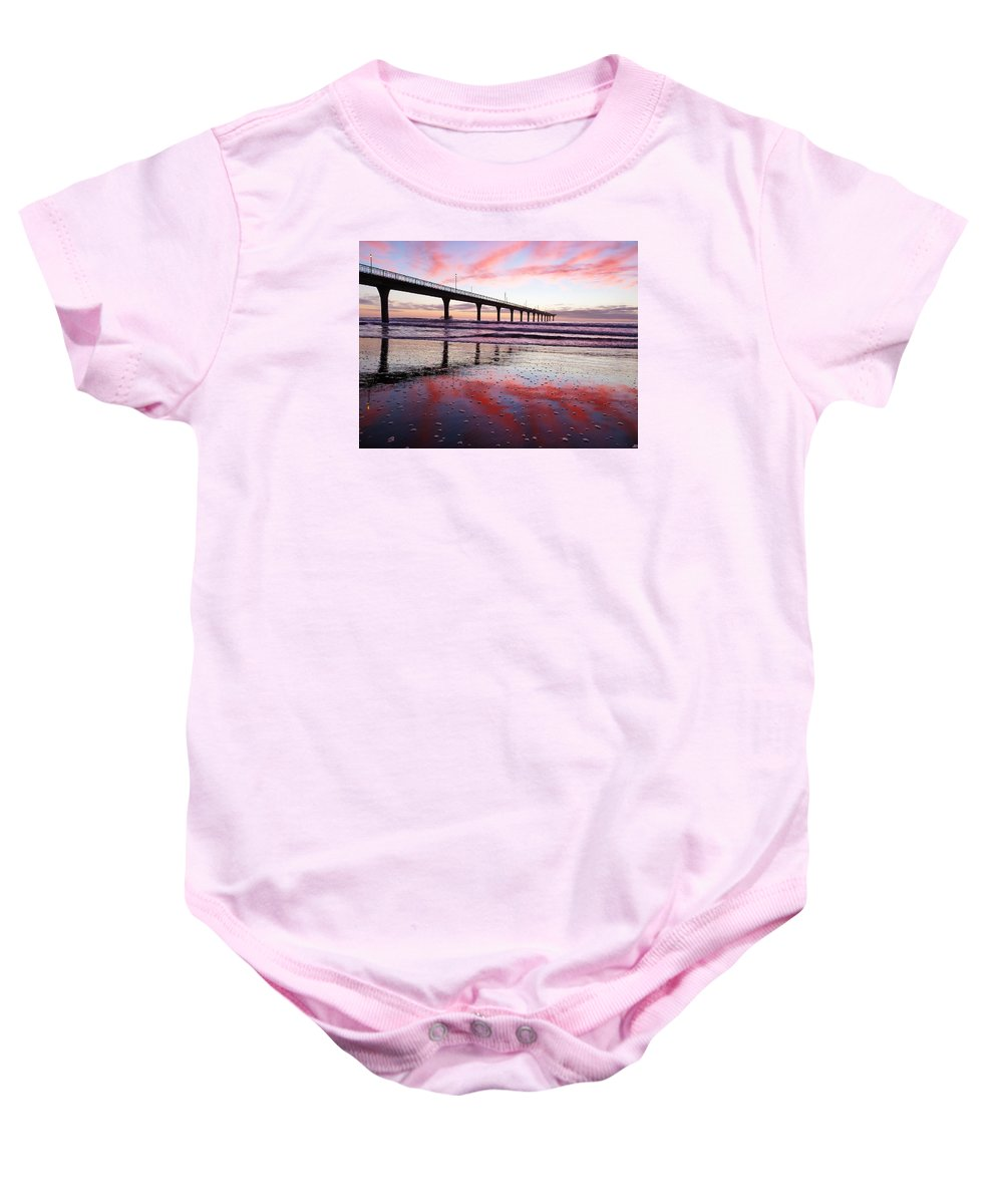 Bubbles Baby Onesie featuring the photograph Bubble Beach by Steve Taylor