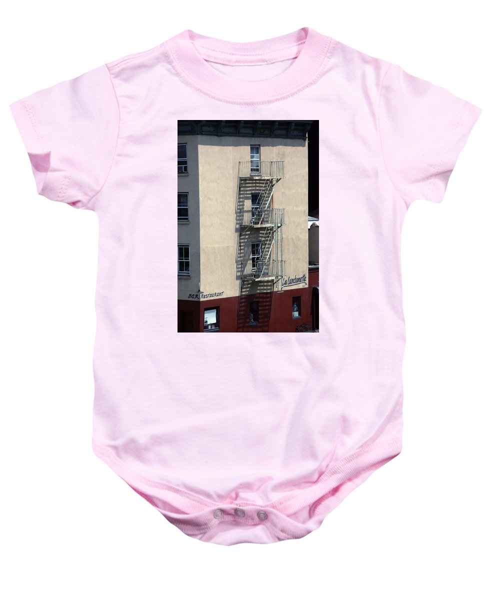 City Baby Onesie featuring the photograph City 0052 by Carol Ann Thomas