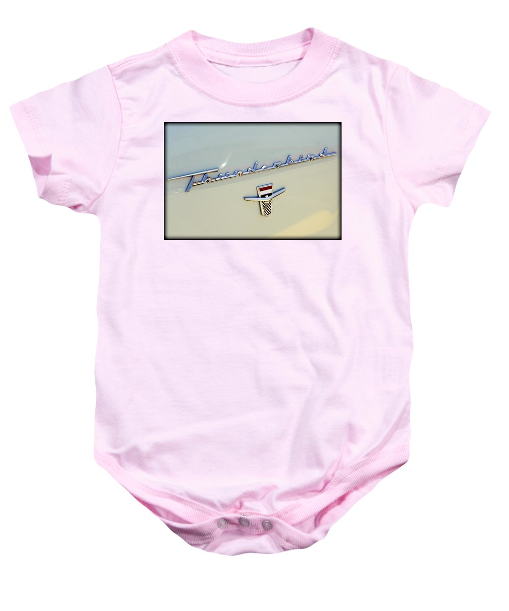 Ford Baby Onesie featuring the photograph Classic T-bird by Ricky Barnard
