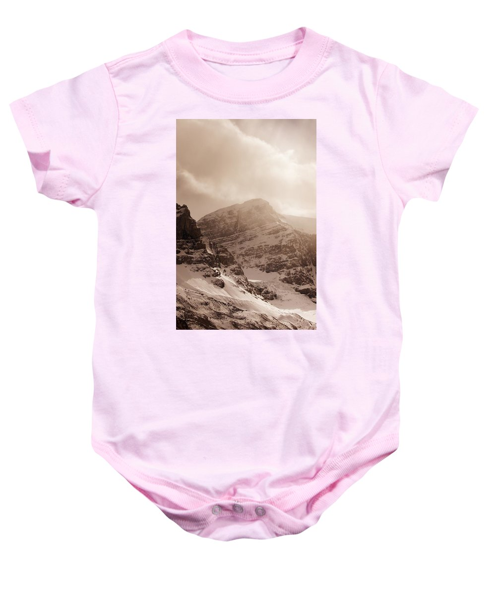 Vast Baby Onesie featuring the photograph Columbia Ice Fields by Don Hammond