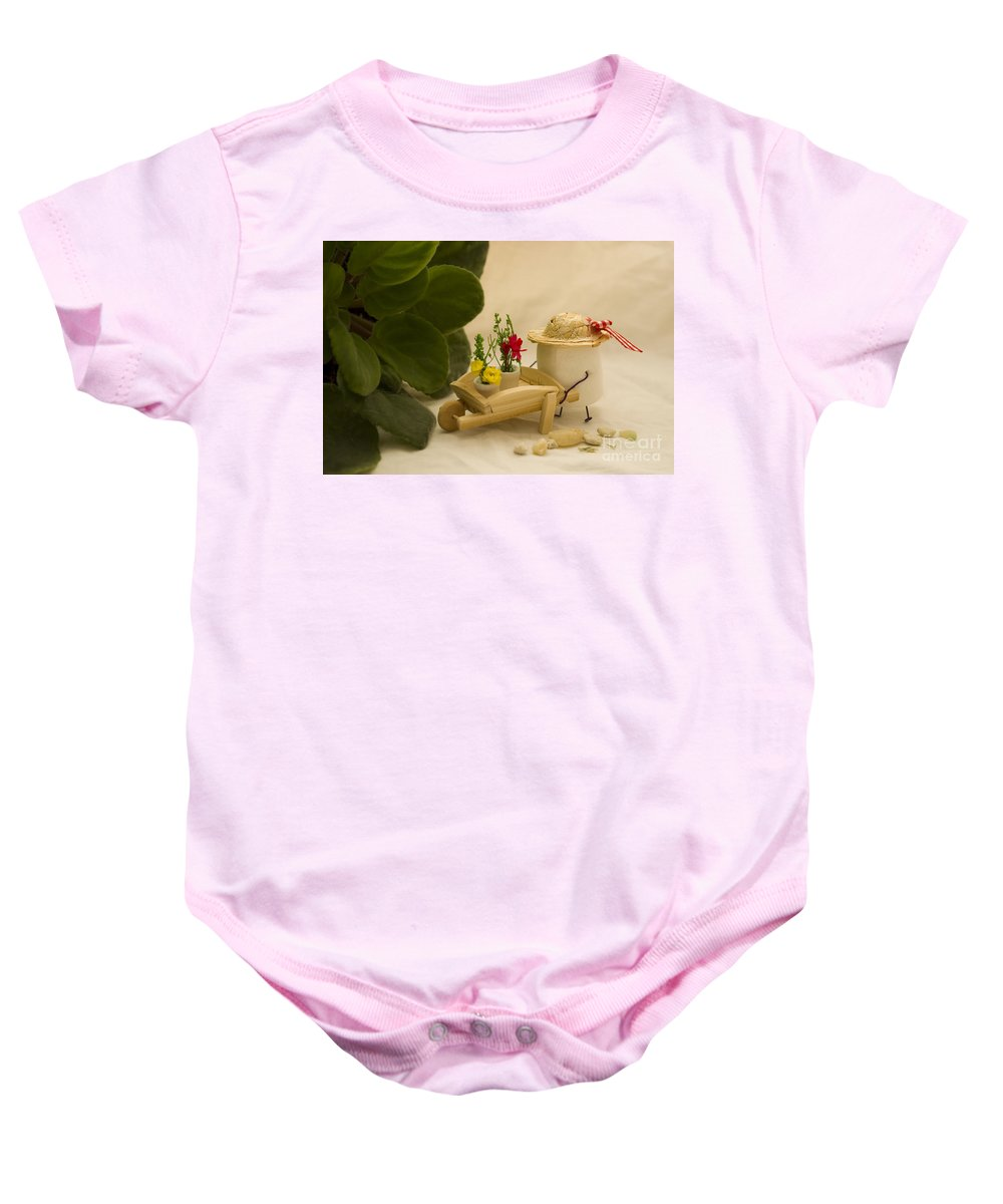 Garden Baby Onesie featuring the photograph Cultivating Confection by Heather Applegate
