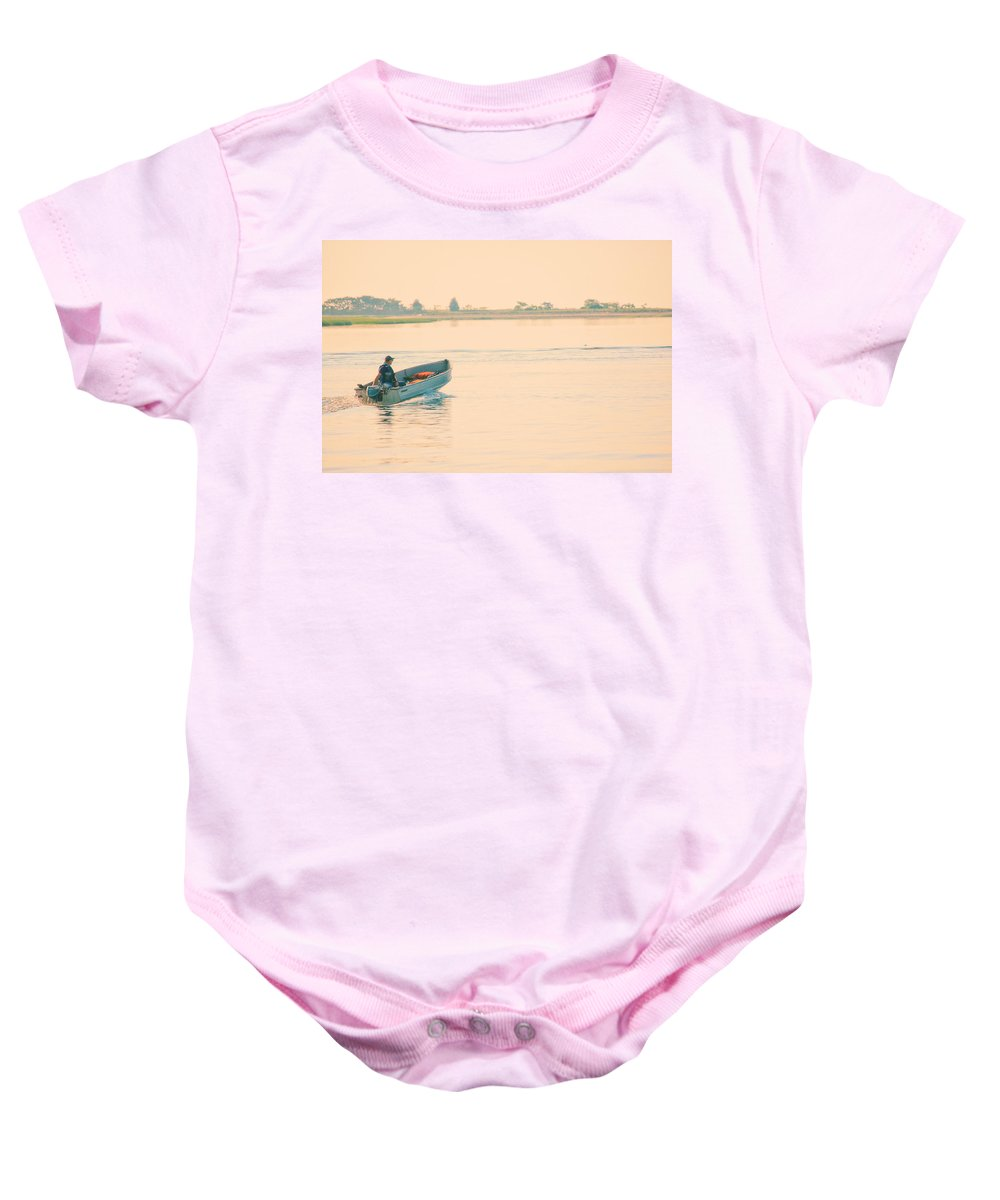 Landscape Baby Onesie featuring the photograph Early Start by Karol Livote