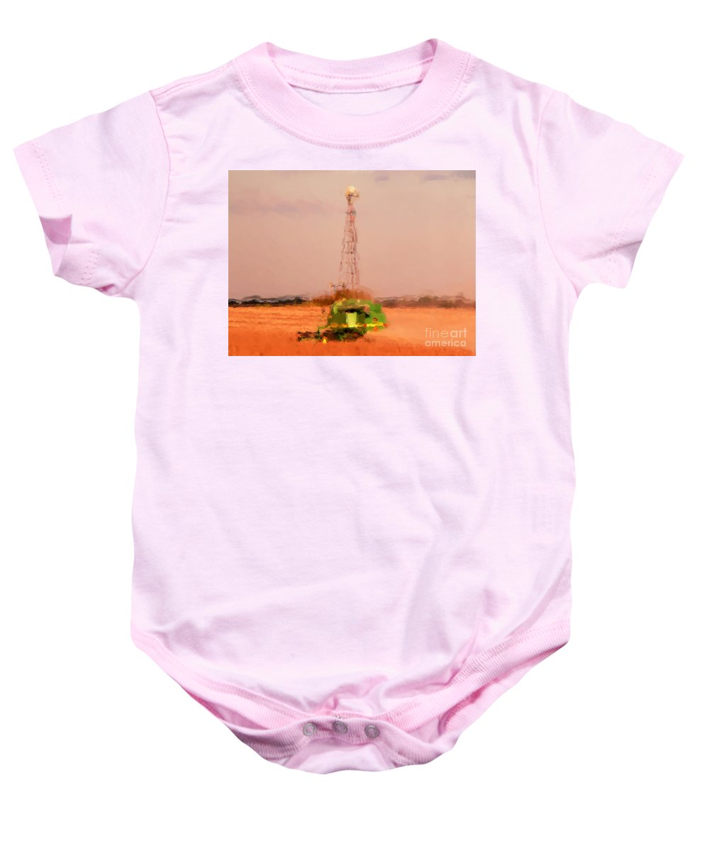 Fall Harvest Baby Onesie featuring the photograph Fall Harvest Time by David Bearden