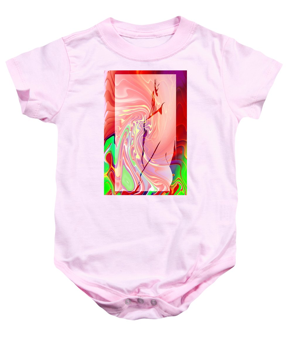 Girl Female Woman Abstract Color Colorful Expressionism Impressionism Fractal Digital Baby Onesie featuring the digital art Fantasy Girl 2 by Steve K