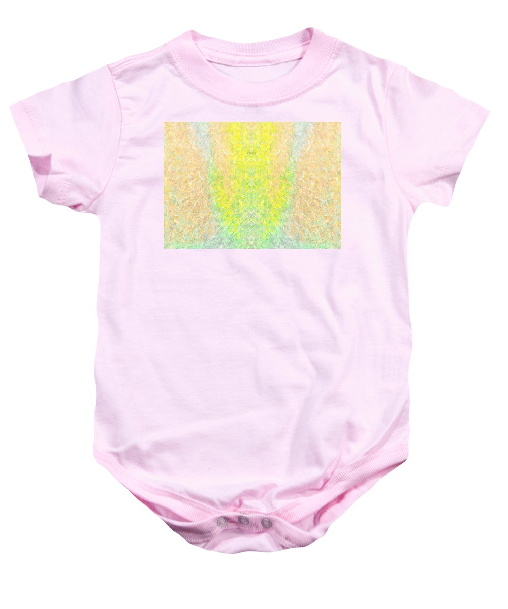 Baby Onesie featuring the painting Firefly Macro2 by Christopher Gaston