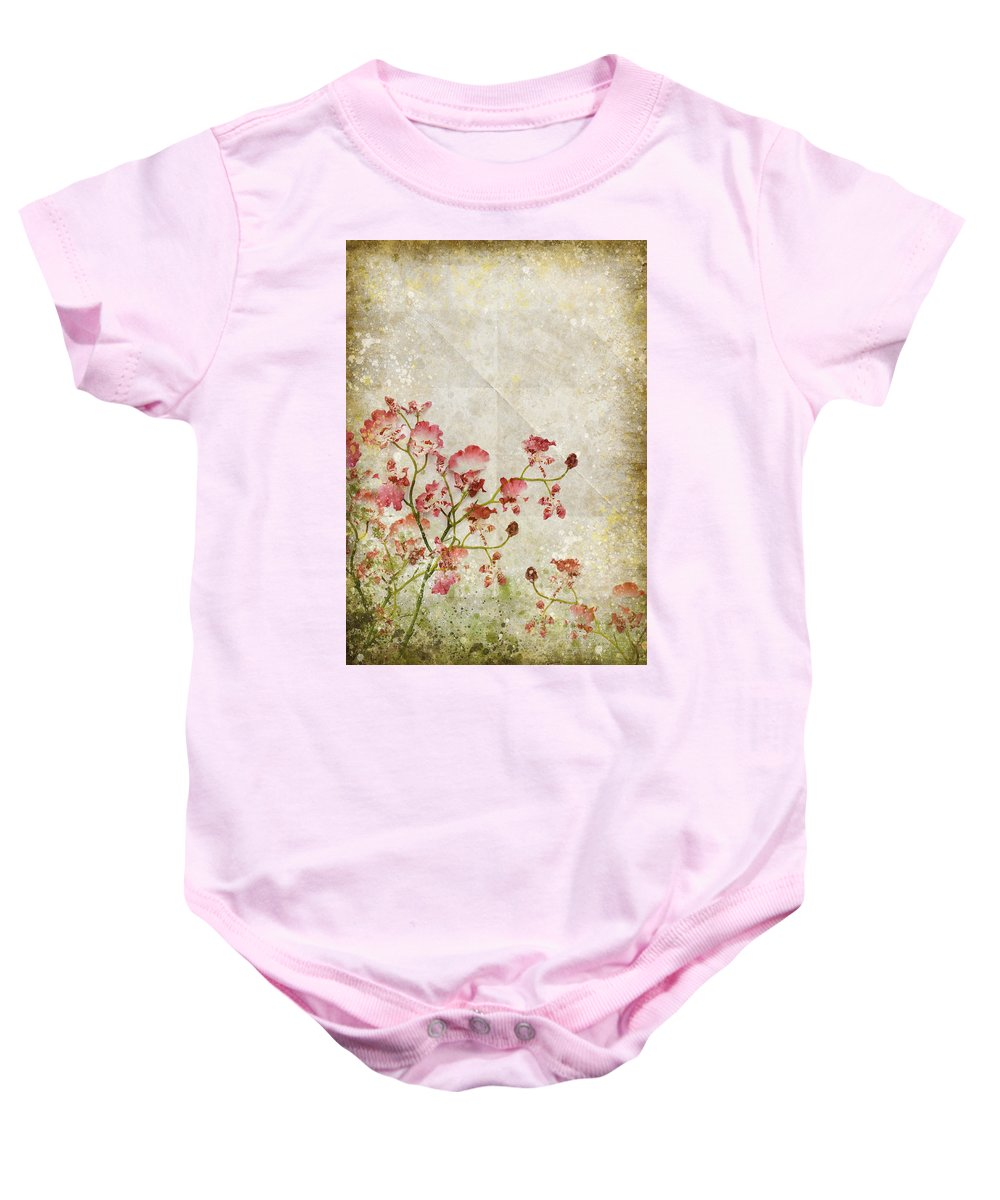 Abstract Baby Onesie featuring the photograph Floral Pattern by Setsiri Silapasuwanchai