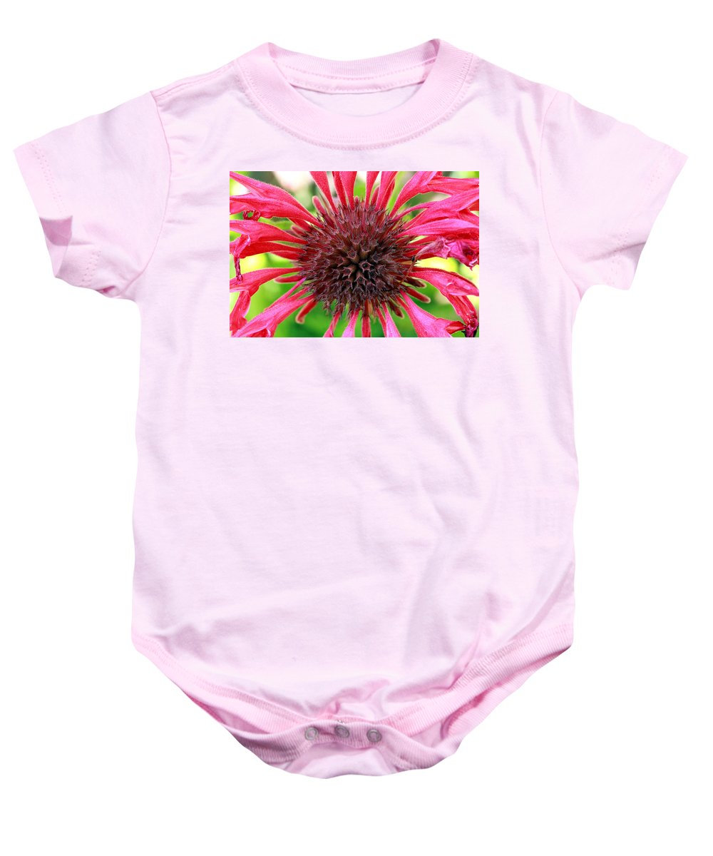 Roses Baby Onesie featuring the photograph Flower Pink by Mark Ashkenazi