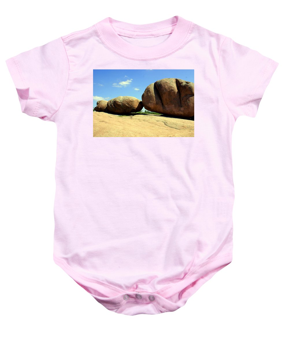 Boulders Baby Onesie featuring the photograph Granite Boulders 2 by Marty Koch