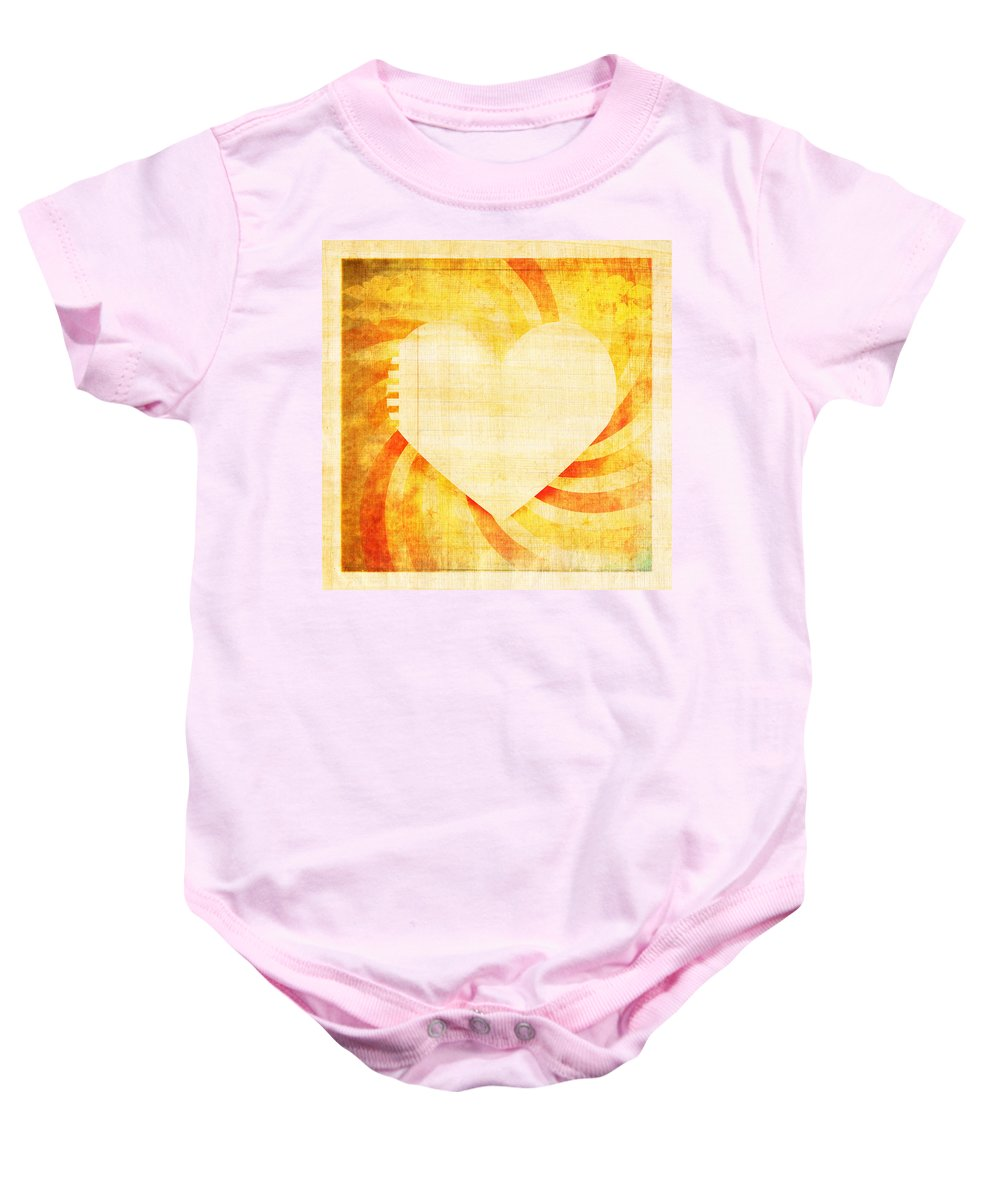 Antique Baby Onesie featuring the photograph greeting card Valentine day by Setsiri Silapasuwanchai