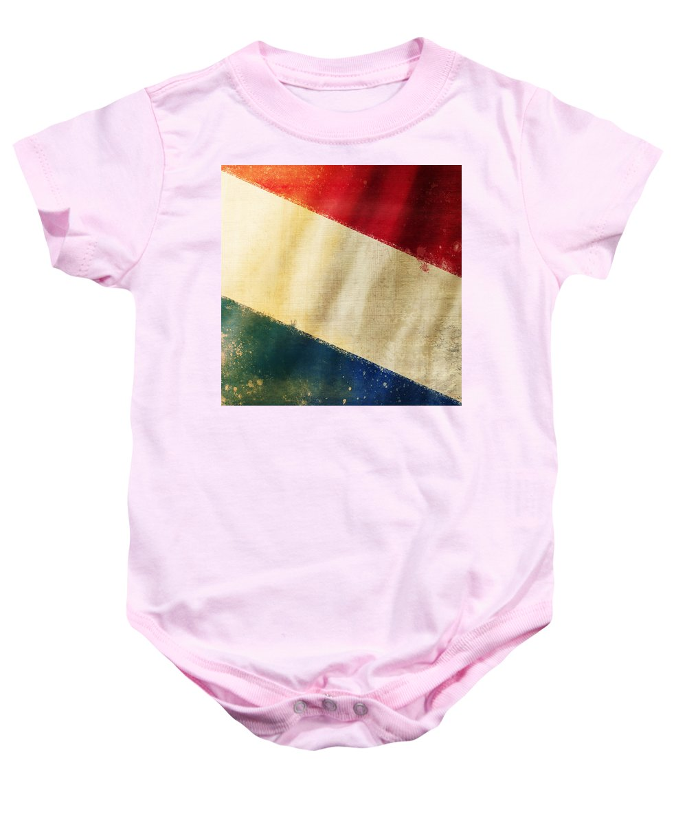 Chalk Baby Onesie featuring the photograph Holland Flag by Setsiri Silapasuwanchai