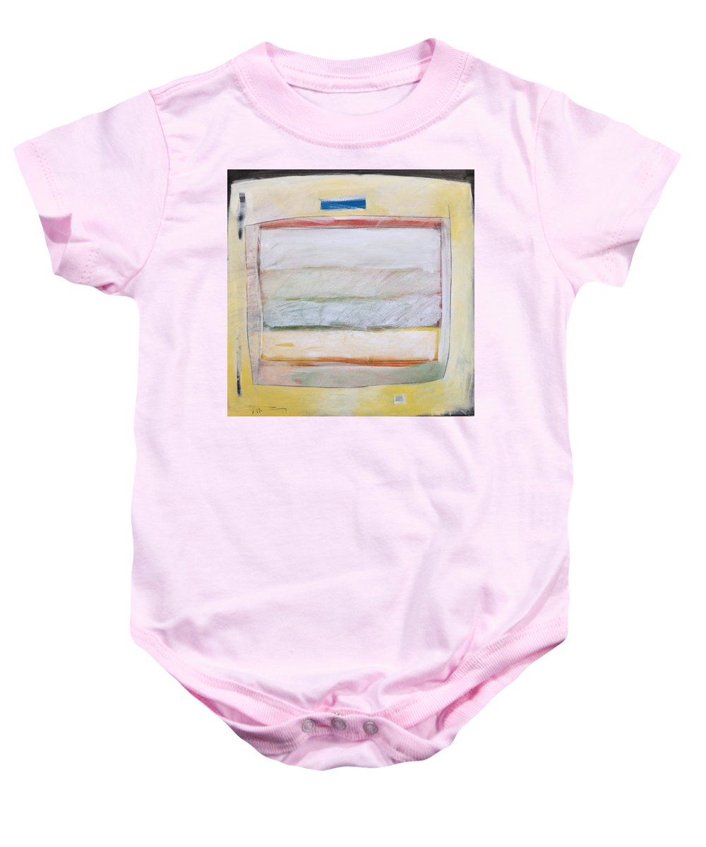 Abstract Baby Onesie featuring the painting Horizontal Hold by Tim Nyberg