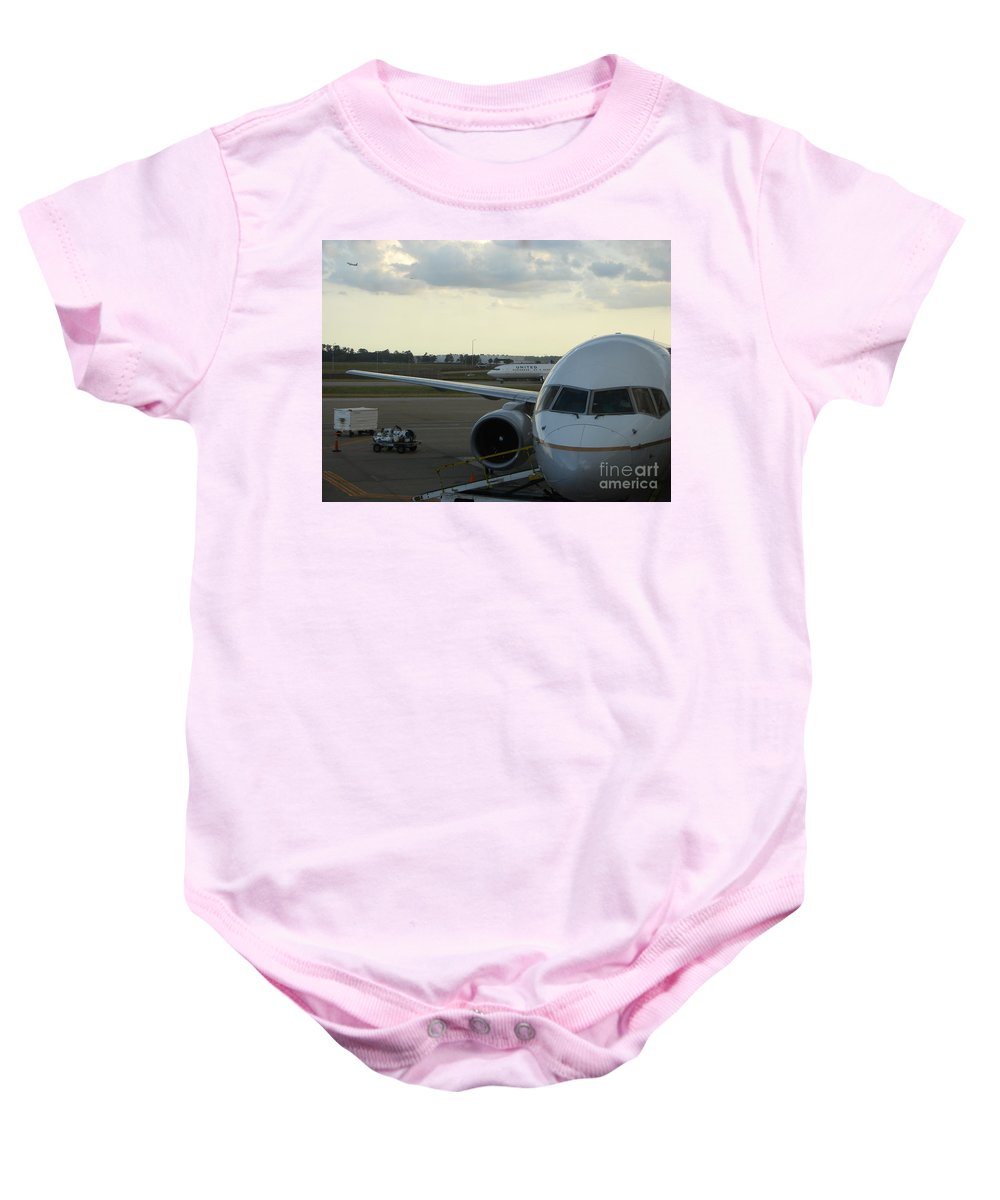 Airplane Baby Onesie featuring the photograph Houston by Priscilla Richardson