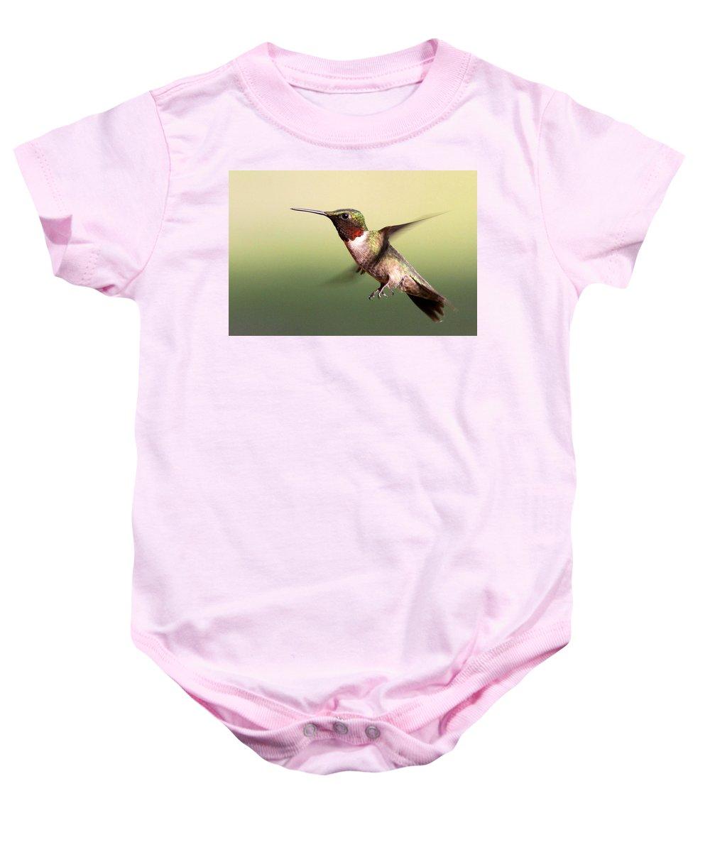 Hummingbird Baby Onesie featuring the photograph I Need A Limb by Travis Truelove