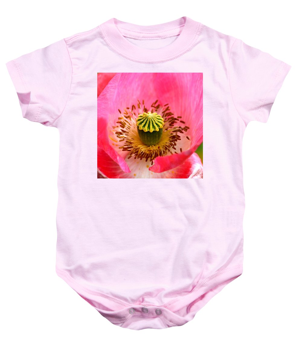 Poppy Baby Onesie featuring the photograph Interior Design by Karon Melillo DeVega