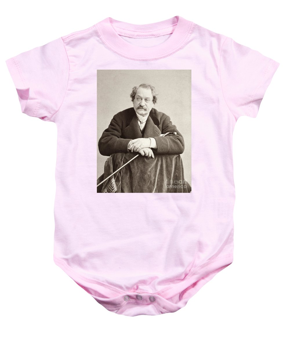 19th Century Baby Onesie featuring the photograph John Brougham (1814-1880) by Granger